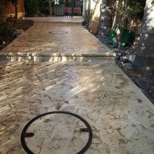 החלקת בטון - בומנייט - אבן רומית - דוגמה 02
