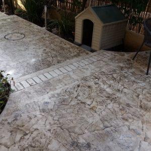 החלקת בטון - בומנייט - אבן רומית - דוגמה 08