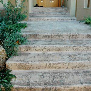מדרגות בטון מוחלק | מדרגות בטון מוטבע -09