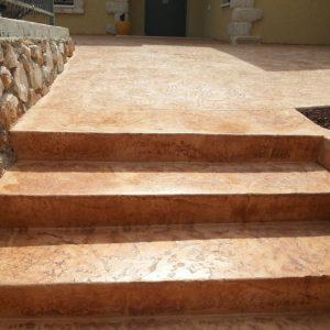 מדרגות בטון מוחלק | מדרגות בטון מוטבע -20